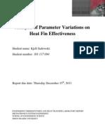 Analysis of Parameter Variations in Heat Sink Effectiveness