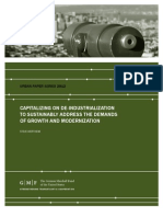 Capitalizing on De-Industrialization to Sustainably Address the Demands of Growth and Modernization