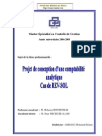 These Professionnelle Projet Conception Comptabilite Analytique