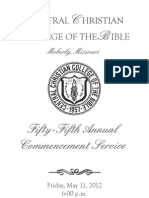 2012 Commencement Program Color