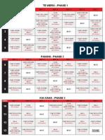 Body Pump 90-Day Workout Calendar