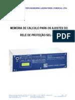 Roteiro de Ajustes Sel-311c