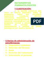 TEMA 22.- TRATAMIENTOS PSICOFARMACOLÓGICOS