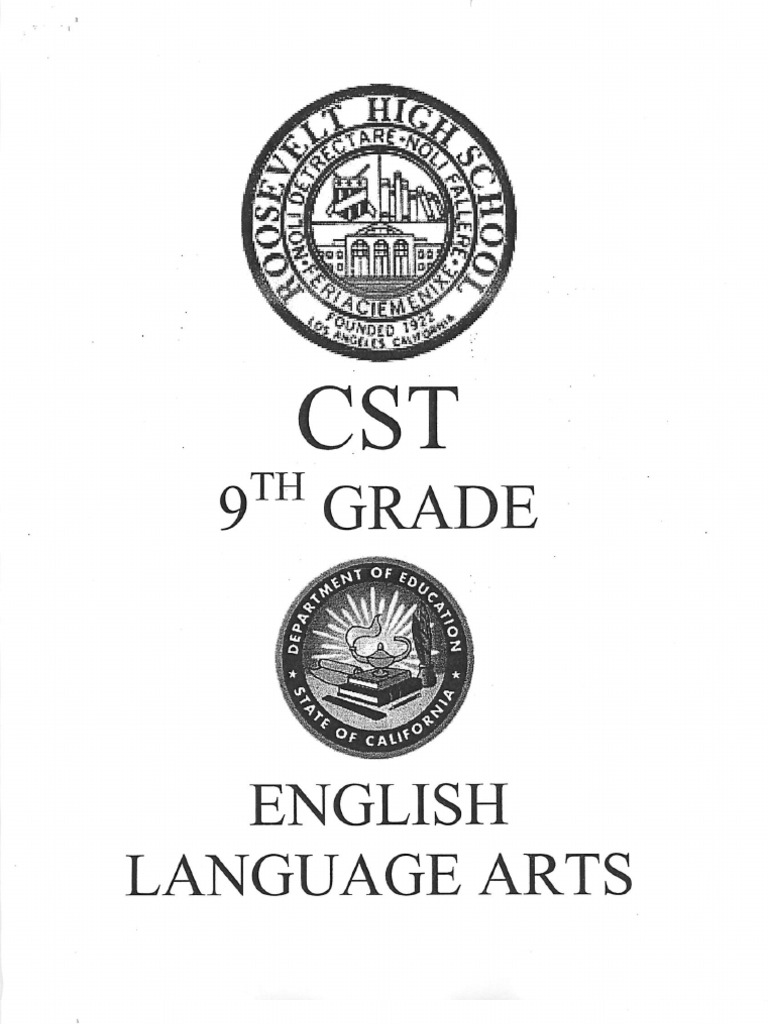 CST 9th Grade English Practice Test