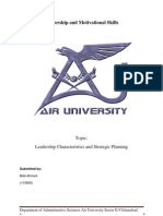 Critical Review Leadershi Characteristics and Strategic Planning