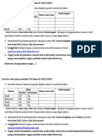 Contoh Soal Ujian Praktek TIK Kelas IX 2011