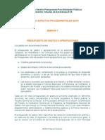 EOP 1.7 Presupuesto de Gastos o Apropiaciones