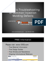 Trouble Shooting in Plastic Injection molding | Industrial Processes