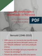 Bensaïd cientificidade e historicidade no marxismo