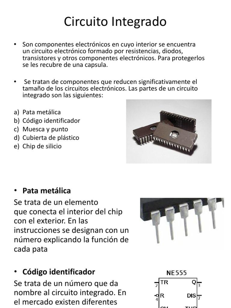Circuito Integrado : Partes de los circuitos integrados