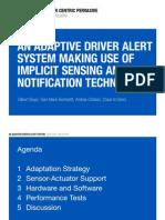 An Adaptive Driver Alert System Beyer Bertolotti Cristiani Dehni