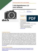 Canon EOS 450D SLR-Digitalkamera (12 Megapixel, LifeView) Gehäuse