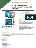 Canon PowerShot D10 Digitalkamera (12 Mega Pixel, 3-Fach Opt. Zoom, 6,4 Cm (2,5 Zoll) Display, 10m Wasserdicht