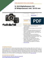 Sony DSLR-A230L SLR-Digitalkamera (10 Mega Pixel, BIONZ Bildprozessor Inkl. 18-55 Mm Objektiv