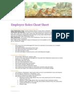 Get Satisfaction Employee Roles Cheat Sheet