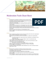 Get Satisfaction Moderation Tools Cheat Sheet