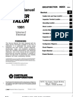 Volume 2 Electrical Service Manual Mitsubishi Laser, Talon 1991