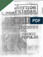 Cuadernos Marxistas - Chile Lecciones Del Frente Popular