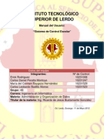 Manual Del Usuario Sistema de Control Escolar