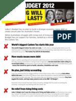 Labors Budget Failures 2012