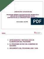 El Programa de RSC en Navarra-Octub 2010