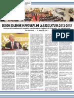 Discurso del Presidente de la Asamblea Legislativa de la República de El Salvador, Lic. Sigfrido Reyes