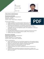 Resume for Mech Engr.