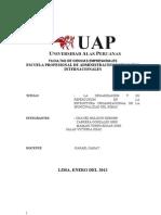 La Organizacion y Su Repercucion en La Estructura Organizacional de La Municipal Id Ad Distrital Del Rimac