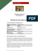 Programa de Derecho Romano
