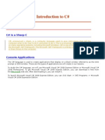 Introduction to C Sharp