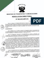 Primer listado de beneficiarios de reasentamiento inmediato de la población de los asentamientos humanos en el Área de ampliación de aeropuerto Internacional Jorge Chávez Resolución Directoral N°092-2012-MTC/16 - 10 de abril de 2012