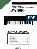 Korg DW-8000 Service Manual