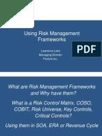 Using Risk Management Frameworks