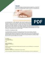 Commitment Letter Sample