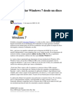 Como Instalar Windows 7 Desde Un Disco USB