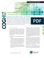 Embracing Real-time Analytics for Proactive Business Management