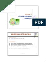 11. Binomial Distribution