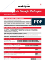 Worldspan Quick Reference