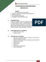 1º INFORME DE EJECUCION DE TALLERES PSICOLOGICOS
