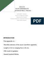 Acute Appendicitis by dr.S.H