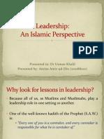 aMINA CHUGHTAI Leadership in Islamic Perspective