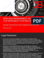 Brocade Management Pack for Msft System Center Demo