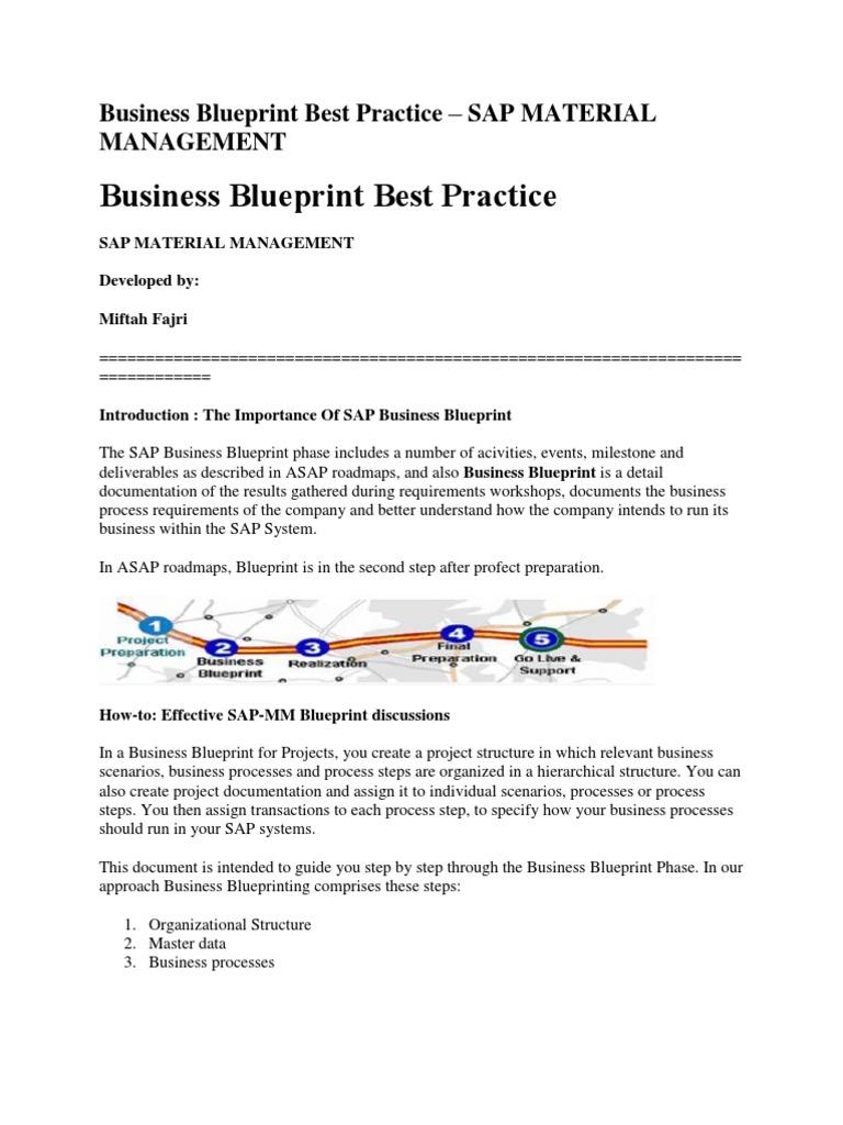 Business blueprint best practice business process warehouse malvernweather Choice Image