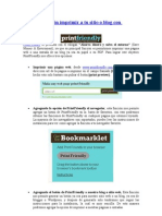 Agrega la opción imprimir a tu sitio o blog con PrintFriendly