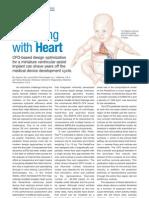 Heart pump design using CFD