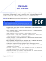 profil ocupational - arheolog