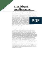 Analysis of Major Characters Napoleon
