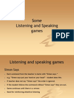 Listening and Speaking Games