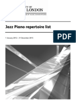 LCM Jazz Piano Syllabus
