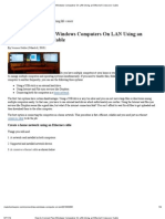 How to Connect Two Windows Computers on LAN Using an Ethernet Crossover Cable